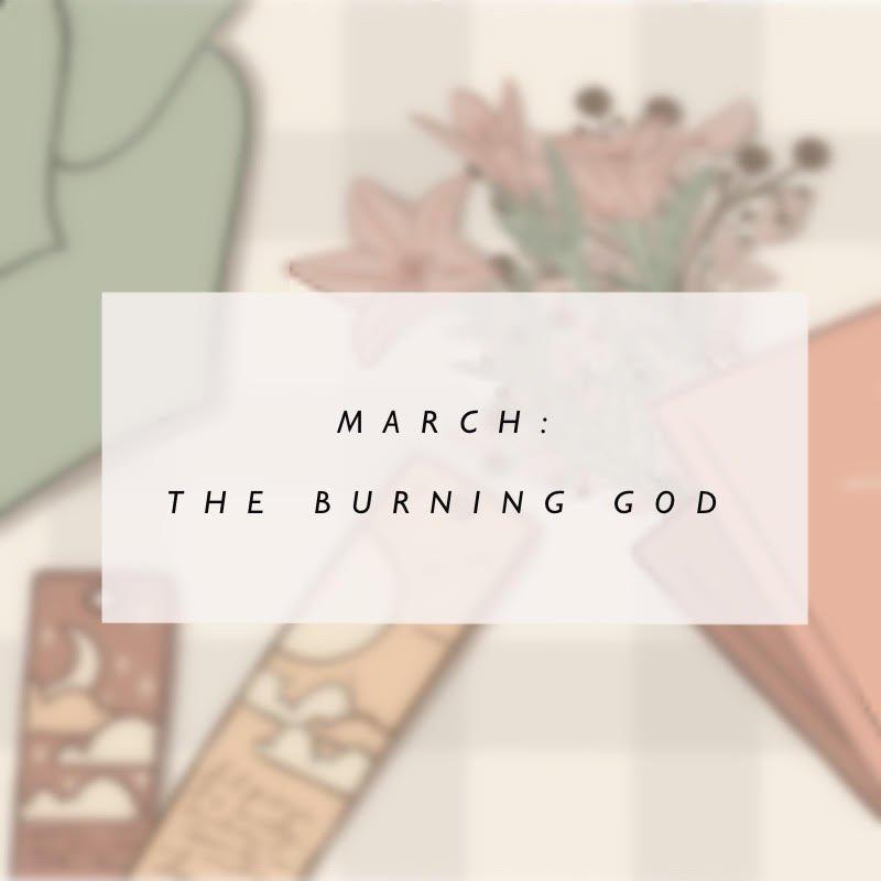 March Bookish Bujo: The Burning God